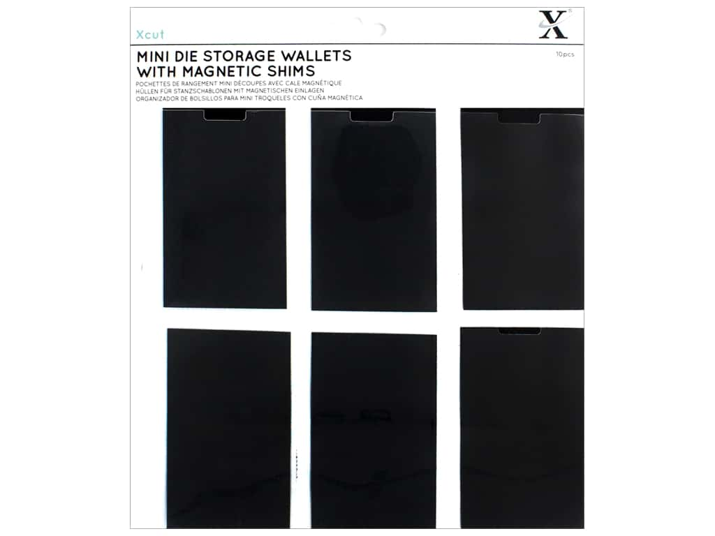 Docrafts Xcut Storage Wallets With Magnetic Shim 10pc