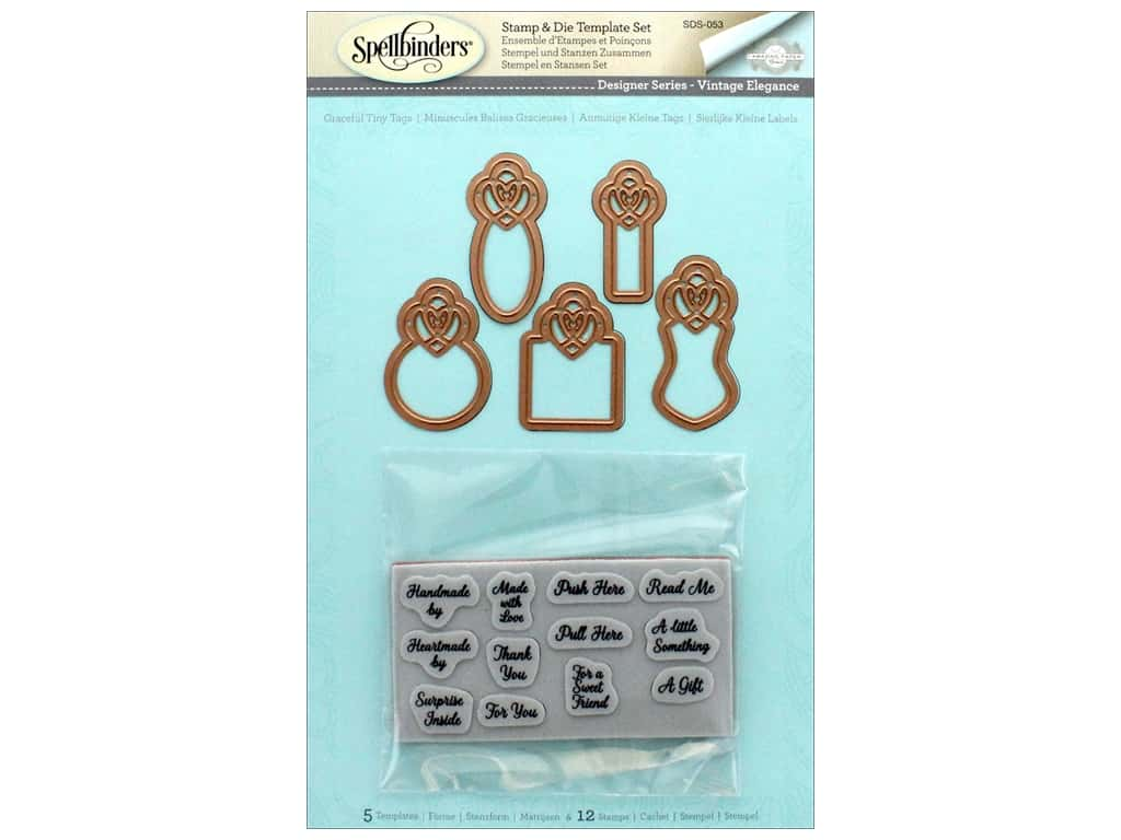 Spellbinders Stamp & Die Graceful Tiny Tags