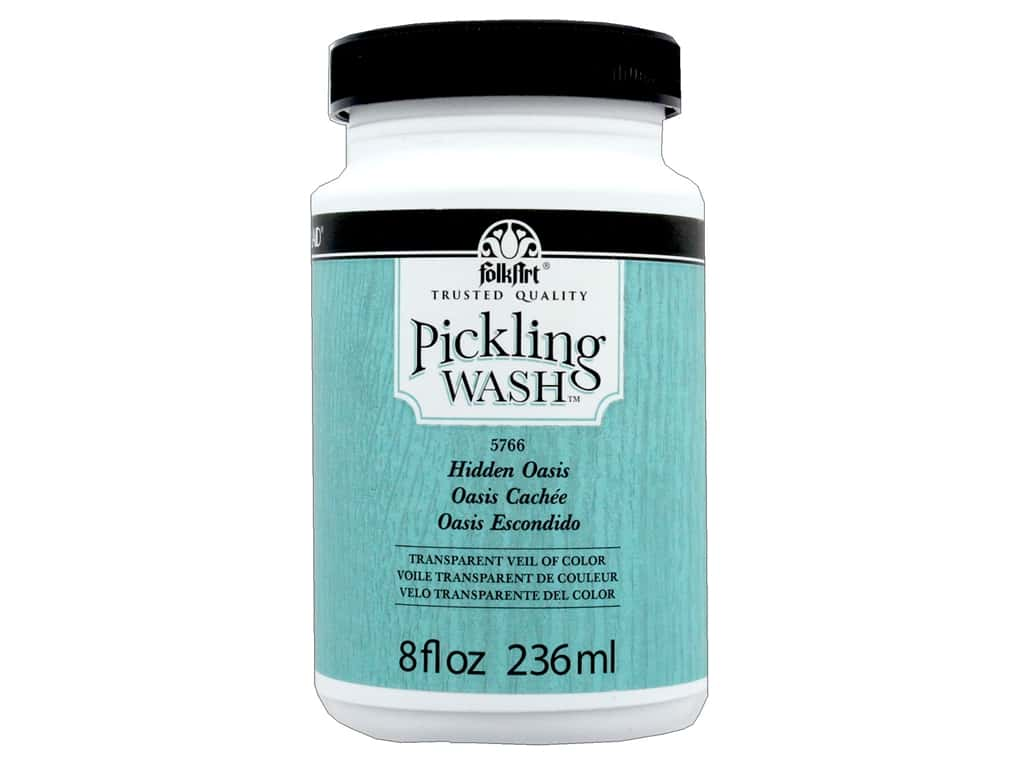 Plaid Folkart Pickling Wash 8 oz. Hidden Oasis