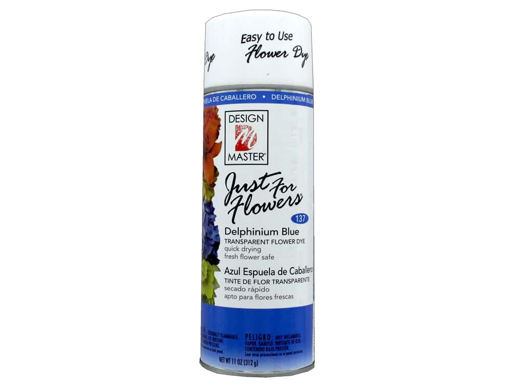 Design Master Just For Flowers Spray Dye 11 oz. #137 Delphinium Blue