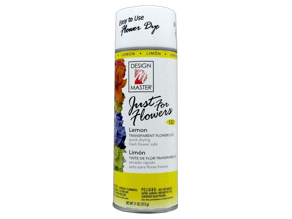 Design Master Just For Flowers Spray Dye 11 oz. #132 Lemon