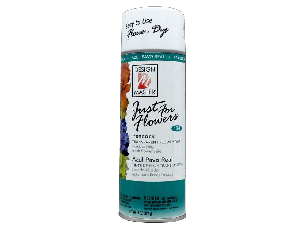 Design Master Just For Flowers Spray Dye 11 oz. #134 Peacock