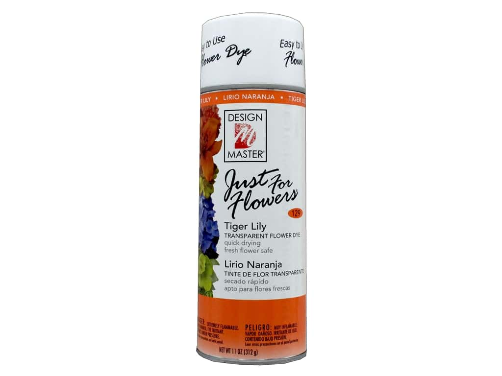 Design Master Just For Flowers Spray Dye 11 oz. #129 Tiger Lily