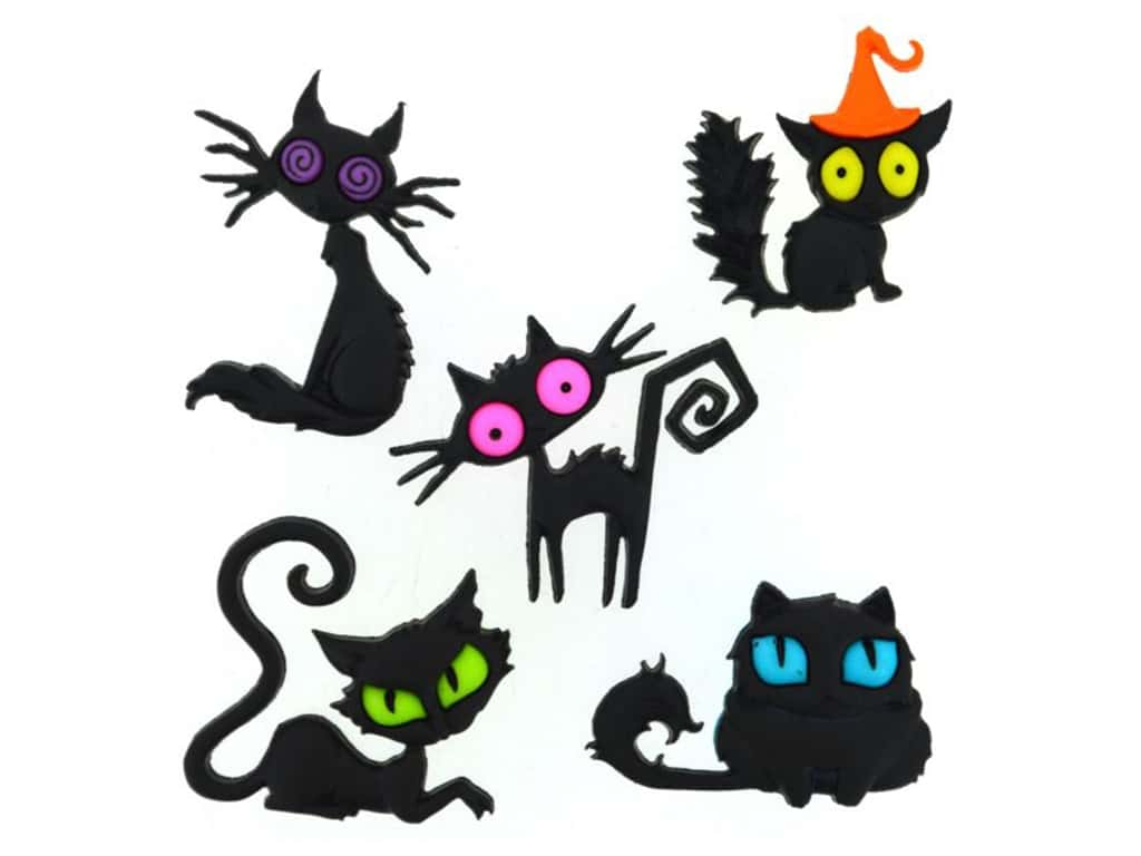 Jesse James Embellishments Creeped Out Cats