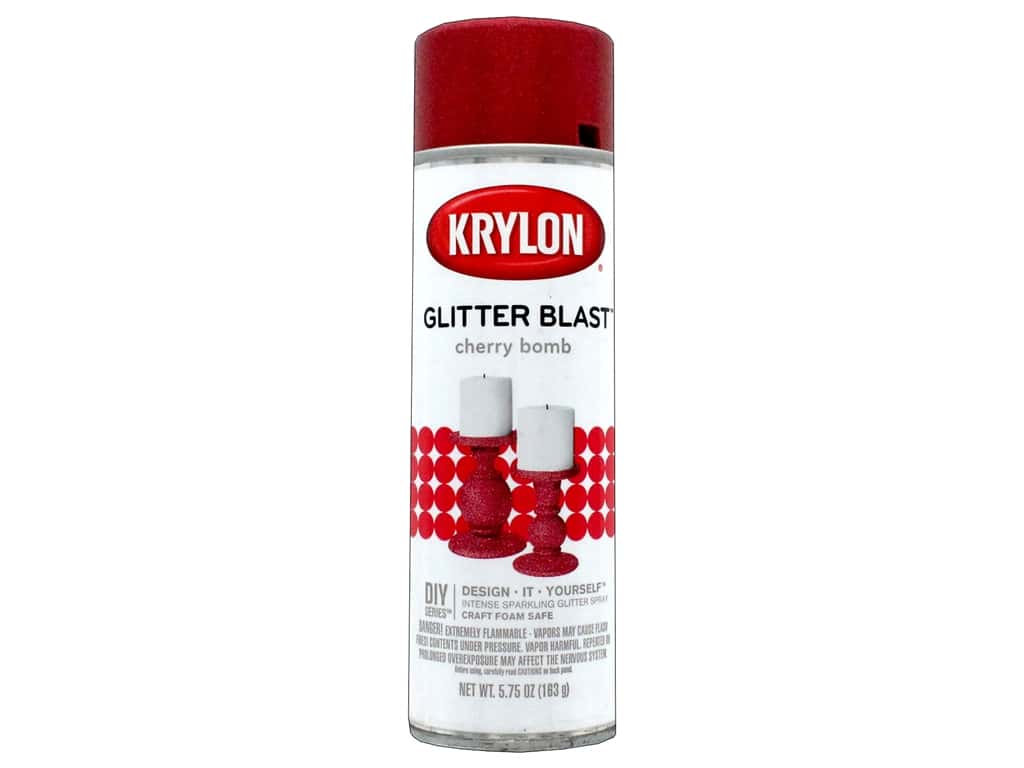 Krylon Glitter Blast Spray Paint 5.75 oz. Cherry Bomb