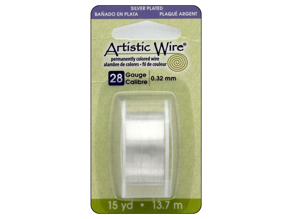 Artistic Wire 28 ga. Copper Wire 15 yd. Non Tarnish Silver Plated