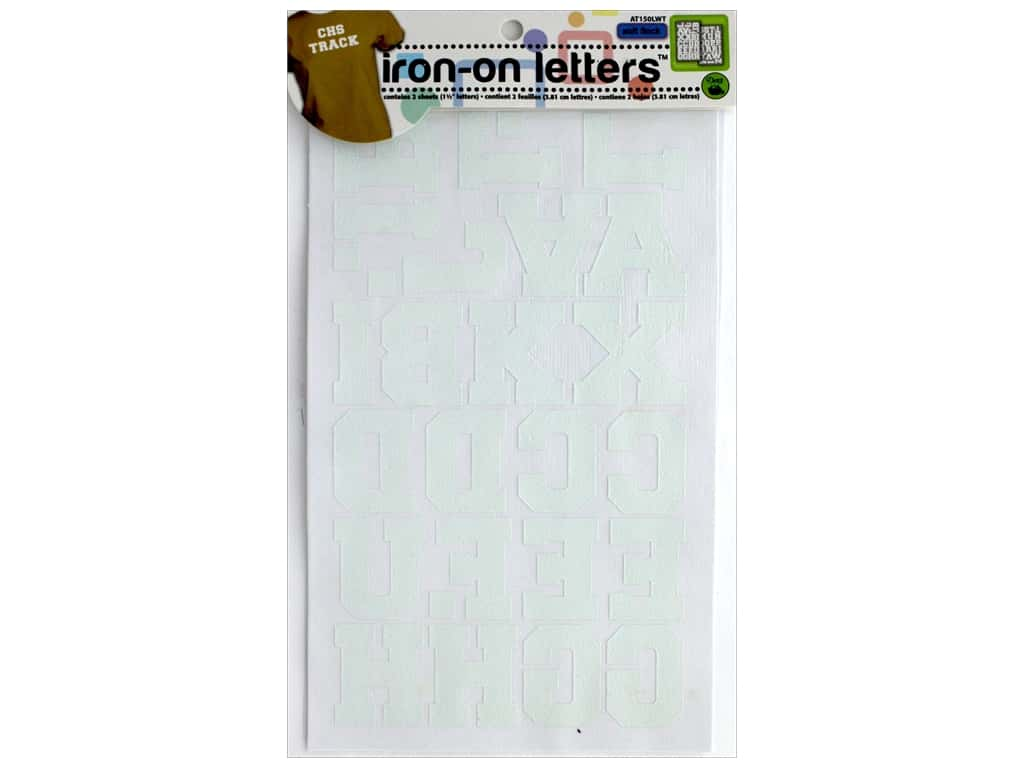 Dritz Iron-On Athletic Letters 1 1/2 in. White