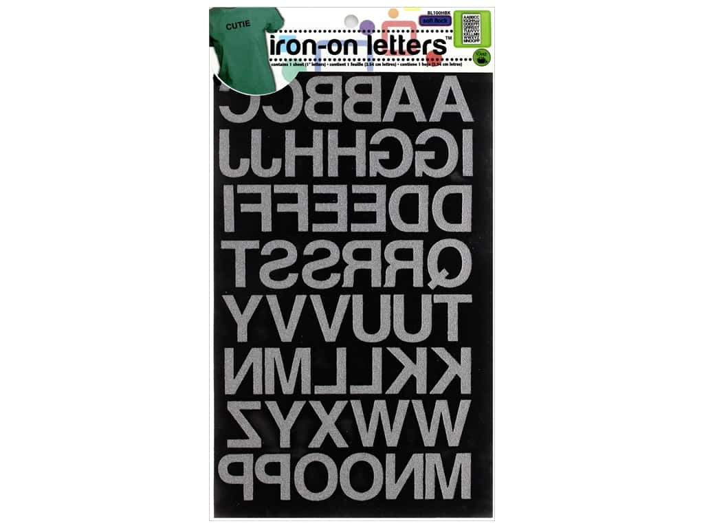 Dritz Iron-On Block Letters 1 in. Black