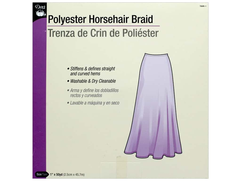 Dritz Polyester Horsehair Braid 1 in x 50 yd (50 yards)