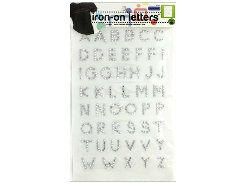Dritz Rhinestud Iron-On Letters 3/4 in. Silver