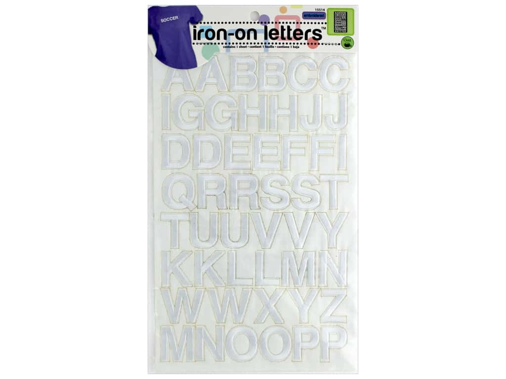 Dritz Embroidered Iron-on Letters White