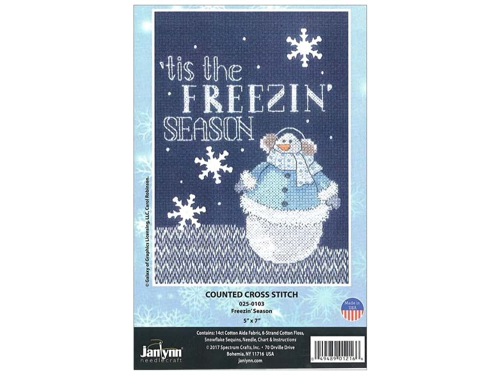 "Janlynn Cross Stitch Kit 5""x 7"" Freezin Season"