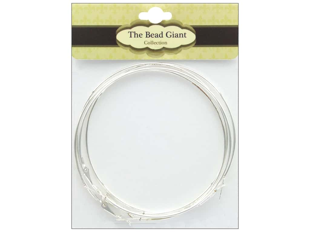 The Bead Giant Finding Hoop 70mm Silver 4pc
