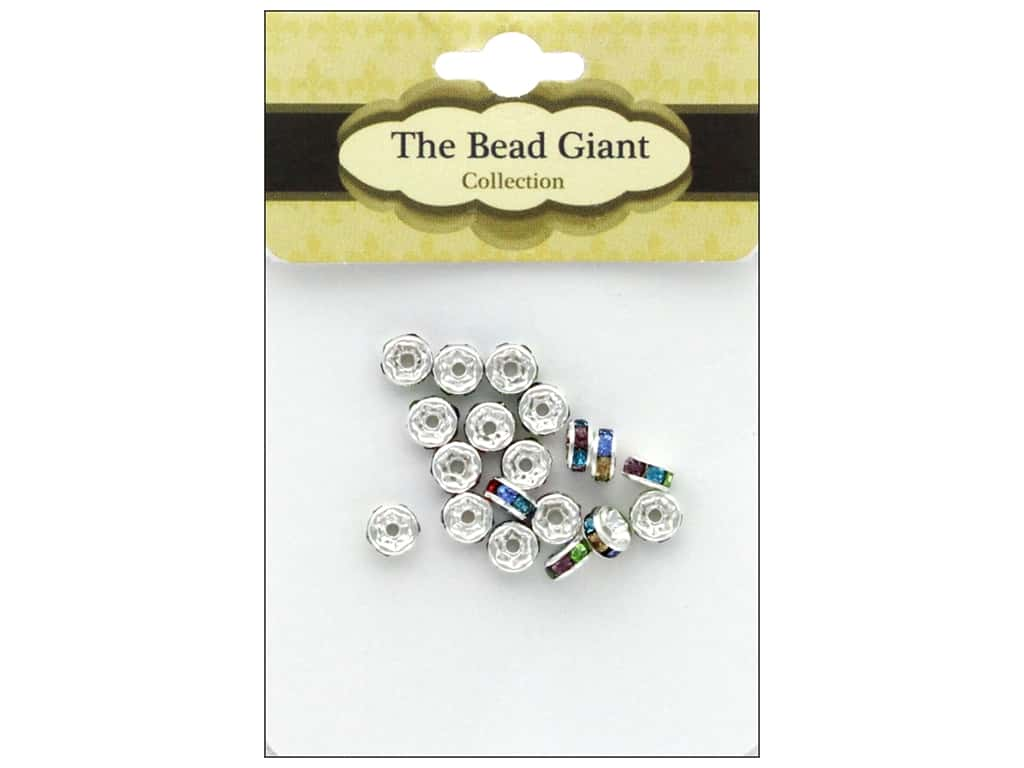 The Bead Giant Bead Disc Rhinestone 5mm Multi 18pc