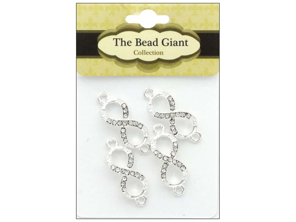 The Bead Giant Bead Infinity Small Silver 4pc
