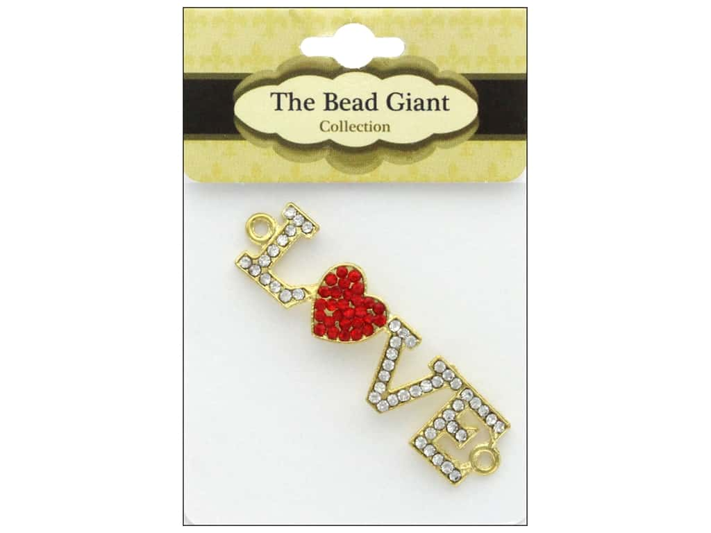 The Bead Giant Jewelry Bead Love Heart Gold