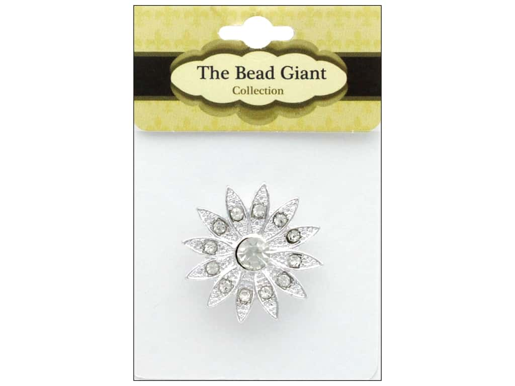 The Bead Giant Jewelry Bead Flower 3 Silver