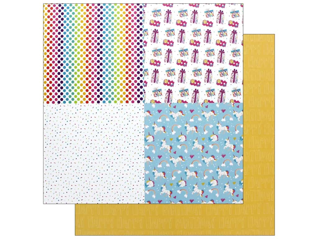 "Photo Play Collection CAKE Rainbow Sprinkles Paper 12""x 12"" Celebrate Quad (25 pieces)"