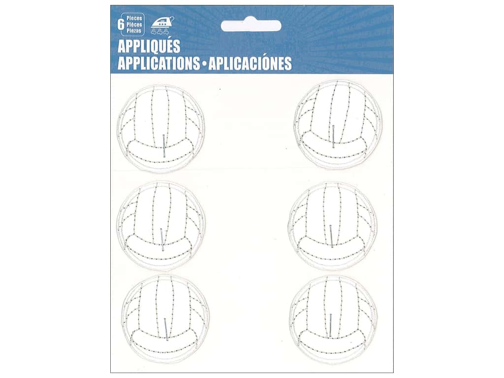 C&D Visionary Applique Volleyballs 6pc