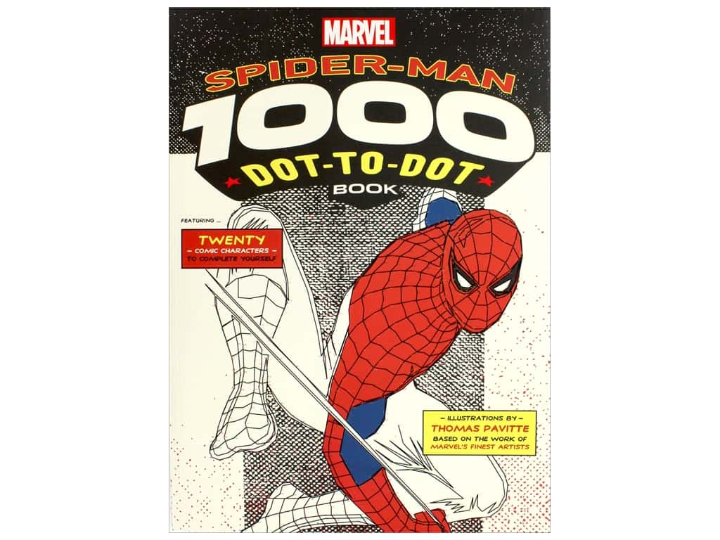 Marvel Spiderman 1000 Dot to Dot Book