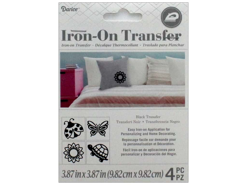 Darice Iron-On Transfer - Black 4 pc.