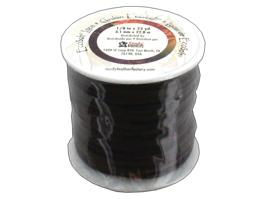 Leather Factory EcoSoft Suede Lace 1/8 in. x 25 yd. Dark Brown