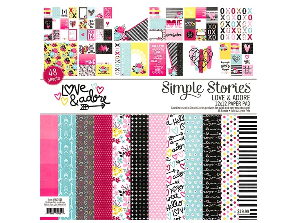 Simple Stories Collection Love & Adore 12 in. x 12 in.
