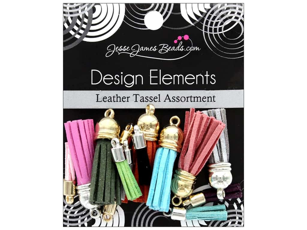 Jesse James Bead Tassel Assortment Leather