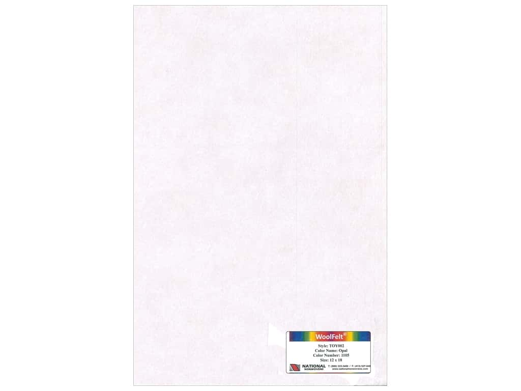 National Nonwovens 35% Wool Felt 12 x 18 in. Opal (10 sheets)