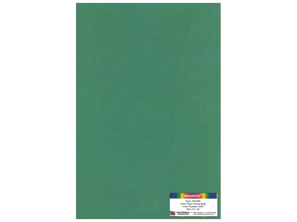 National Nonwovens 35% Wool Felt 12 x 18 in. Ocean Kelp (10 sheets)