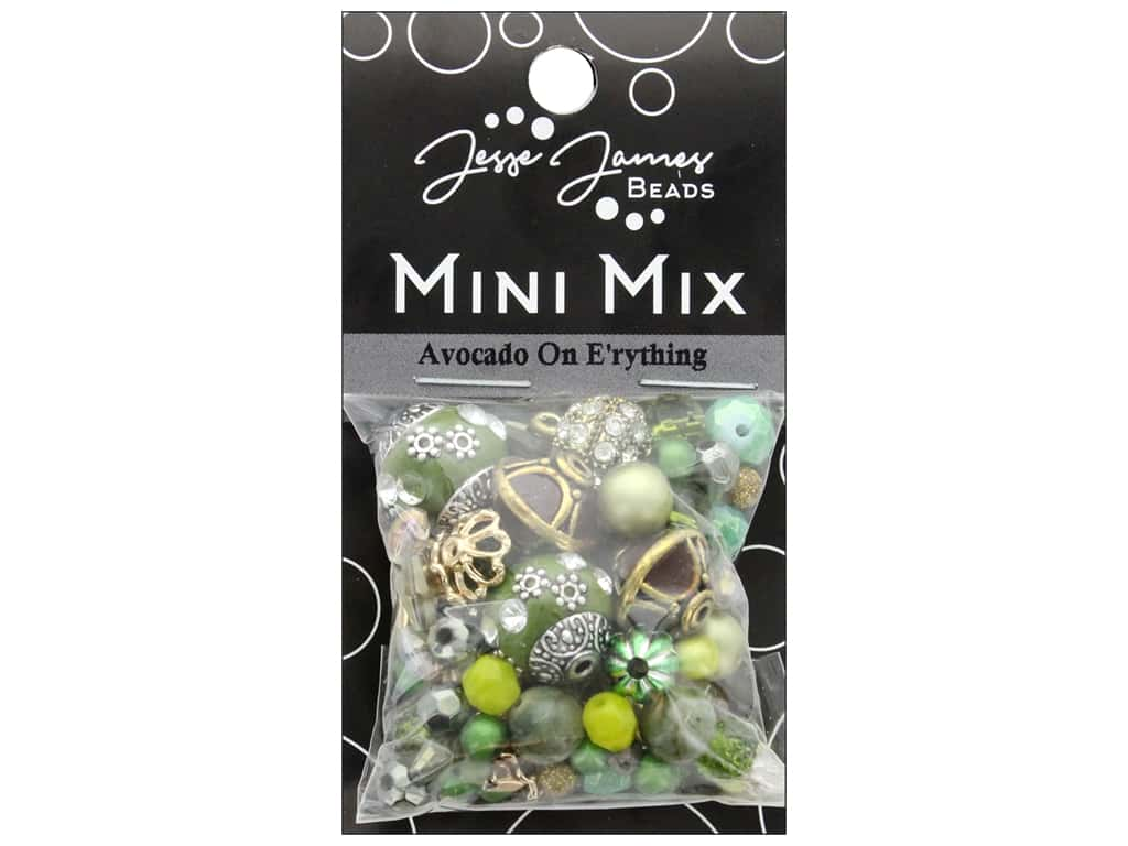 Jesse James Bead Mini Mix Avocado On E'rything