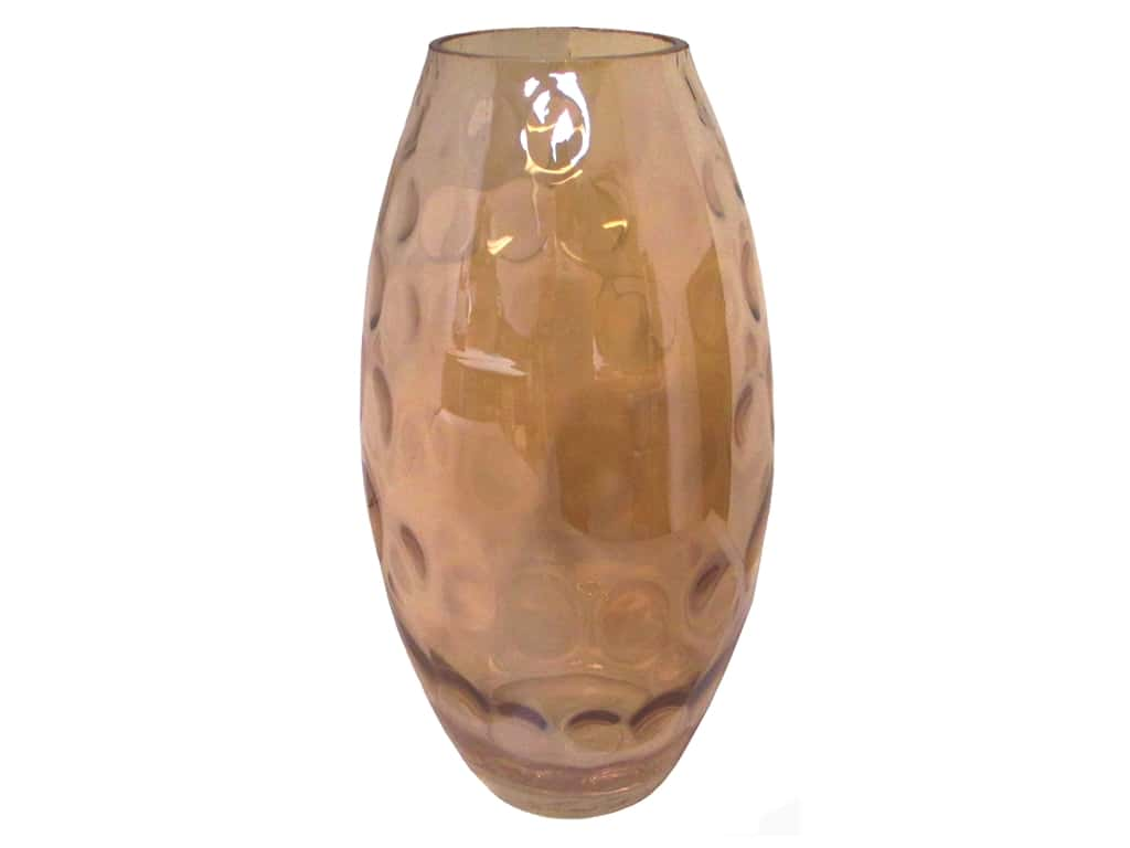 Sierra Pacific Crafts Glass Vase with Round Designs Gold