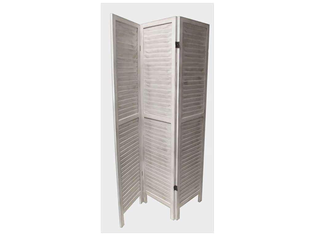 Sierra Pacific Crafts 3 Panel Wood Partition White