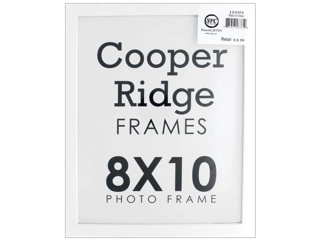 Sierra Pacific Crafts Frame Wood With Easel 8 in. x 10 in. White