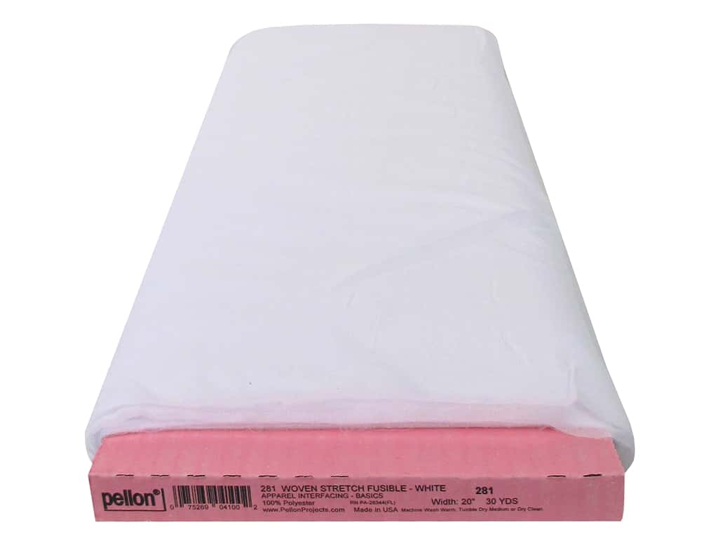 Pellon Interfacing Woven Stretch Fusible 20 in. x 30 yd White (30 yards)
