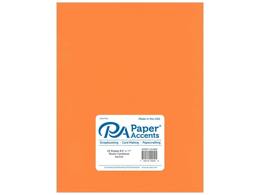 Paper Accents Cardstock 8 1/2 x 11 in. #8092 Muslin Apricot 25 pc.