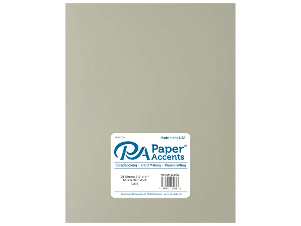 Paper Accents Cardstock 8 1/2 x 11 in. #8099 Muslin Latte (25 sheets)