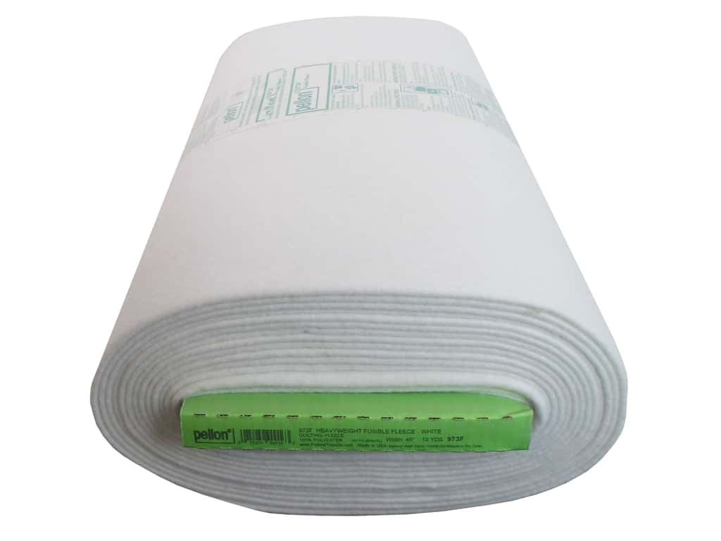 Pellon Fleece Fusible Heavyweight 45 in. x 10 yd White (10 yards)