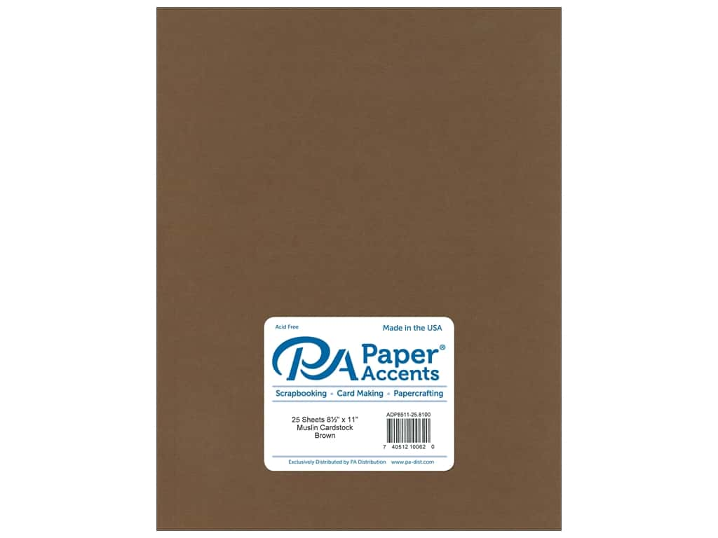 Paper Accents Cardstock 8 1/2 x 11 in. #8100 Muslin Brown (25 sheets)
