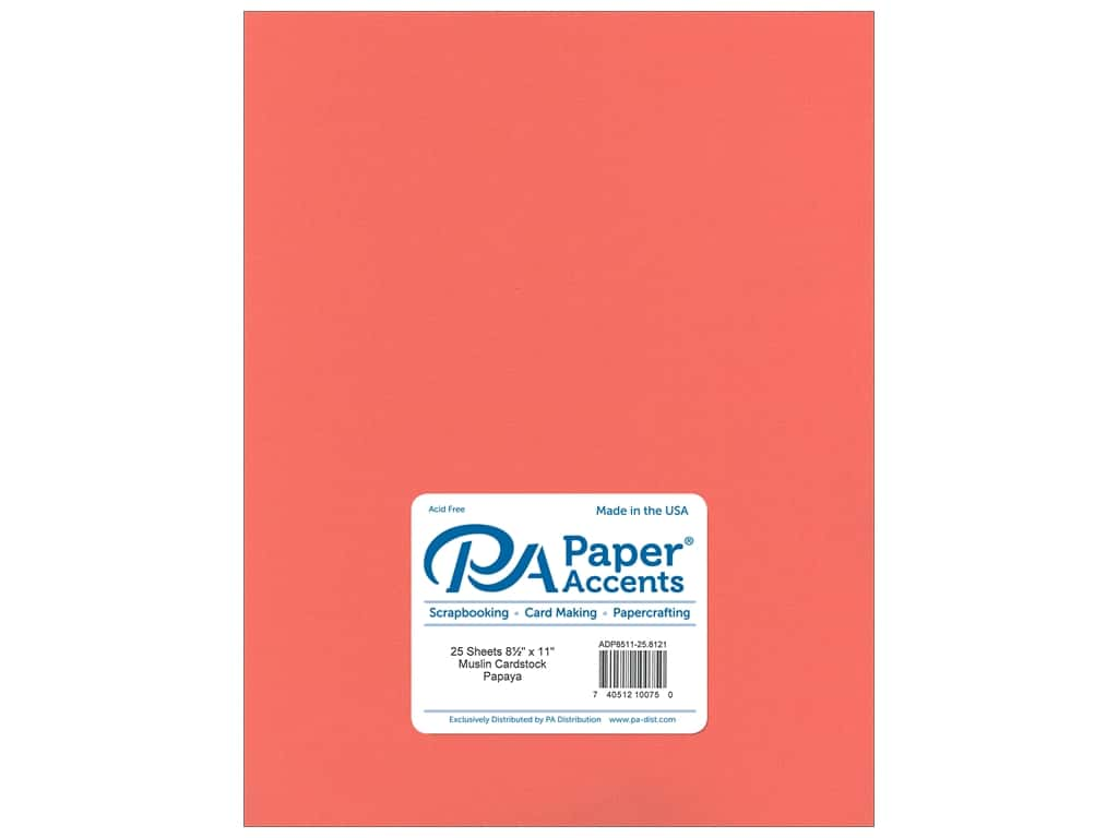 Paper Accents Cardstock 8 1/2 x 11 in. #8121 Muslin Papaya 25 pc.