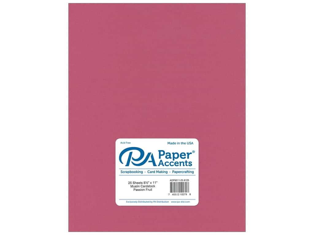 Paper Accents Cardstock 8 1/2 x 11 in. #8125 Muslin Passion Fruit 25 pc.