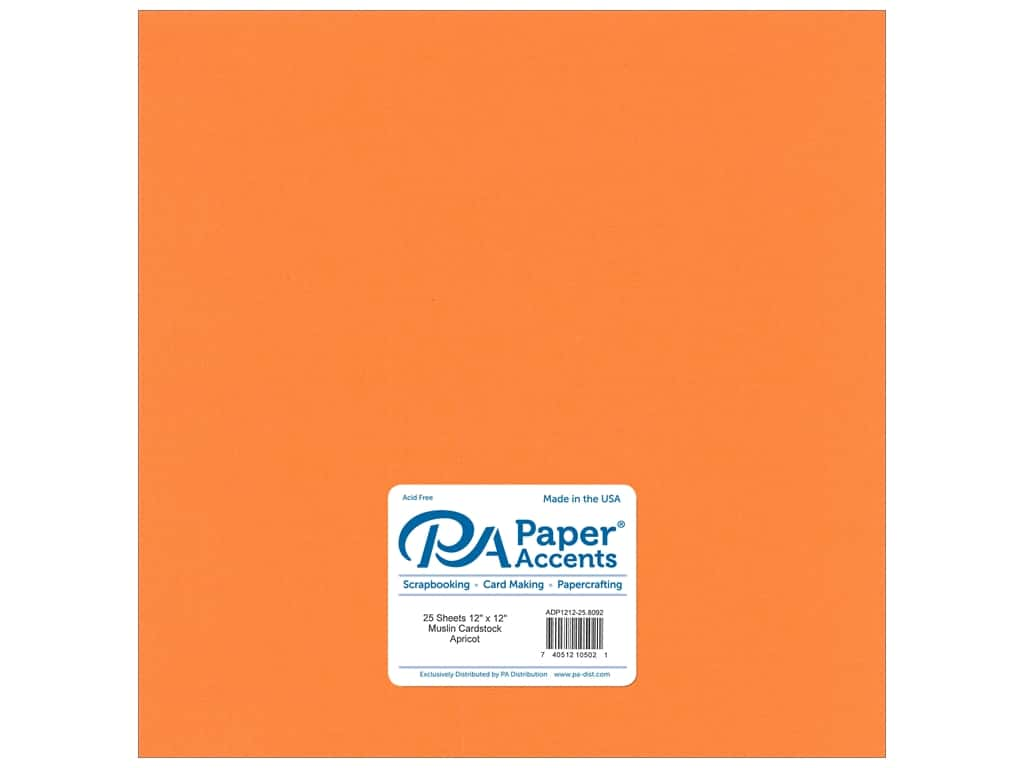 Paper Accents Cardstock 12 x 12 in. #8092 Muslin Apricot 25 pc.