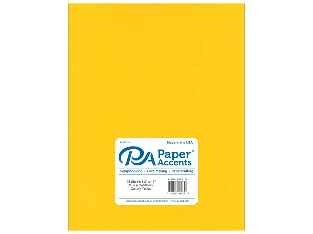 Paper Accents Cardstock 8 1/2 x 11 in. #8127 Muslin Canary Yellow 25 pc.