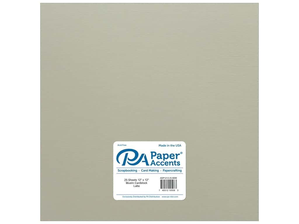 Paper Accents Cardstock 12 x 12 in. #8099 Muslin Latte 25 pc.