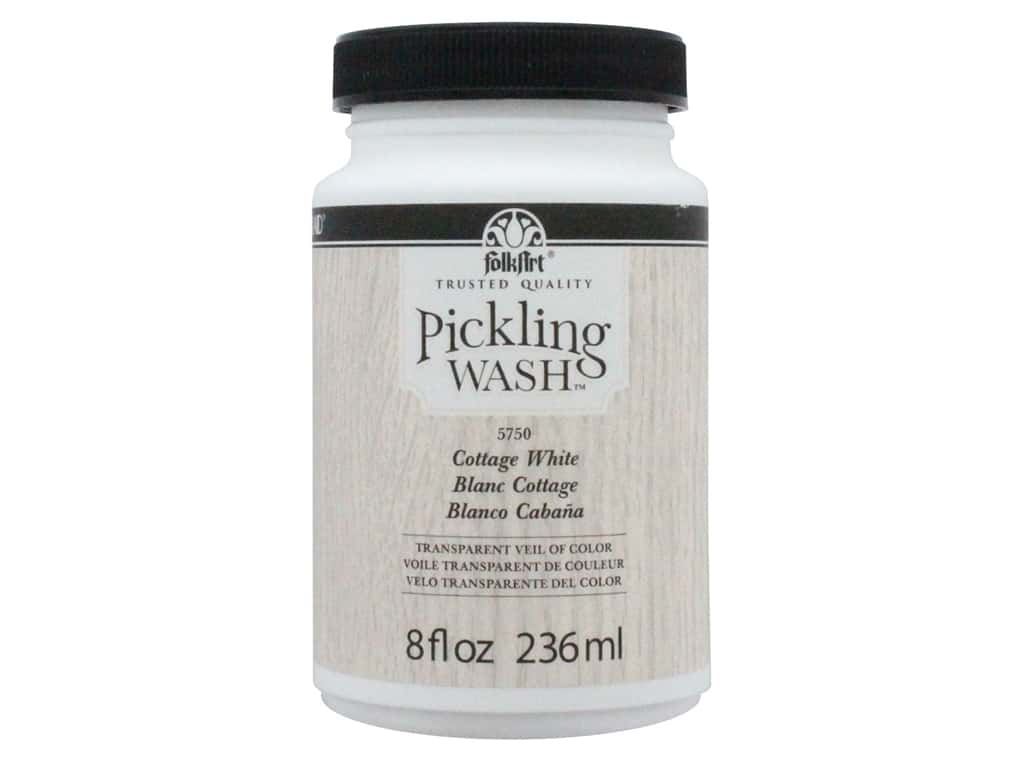 Plaid Folkart Pickling Wash 8 oz. Cottage White
