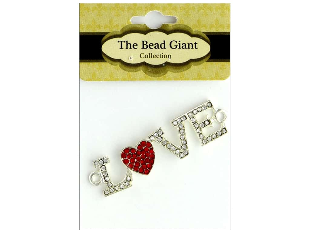 The Bead Giant Bead Love Heart Silver