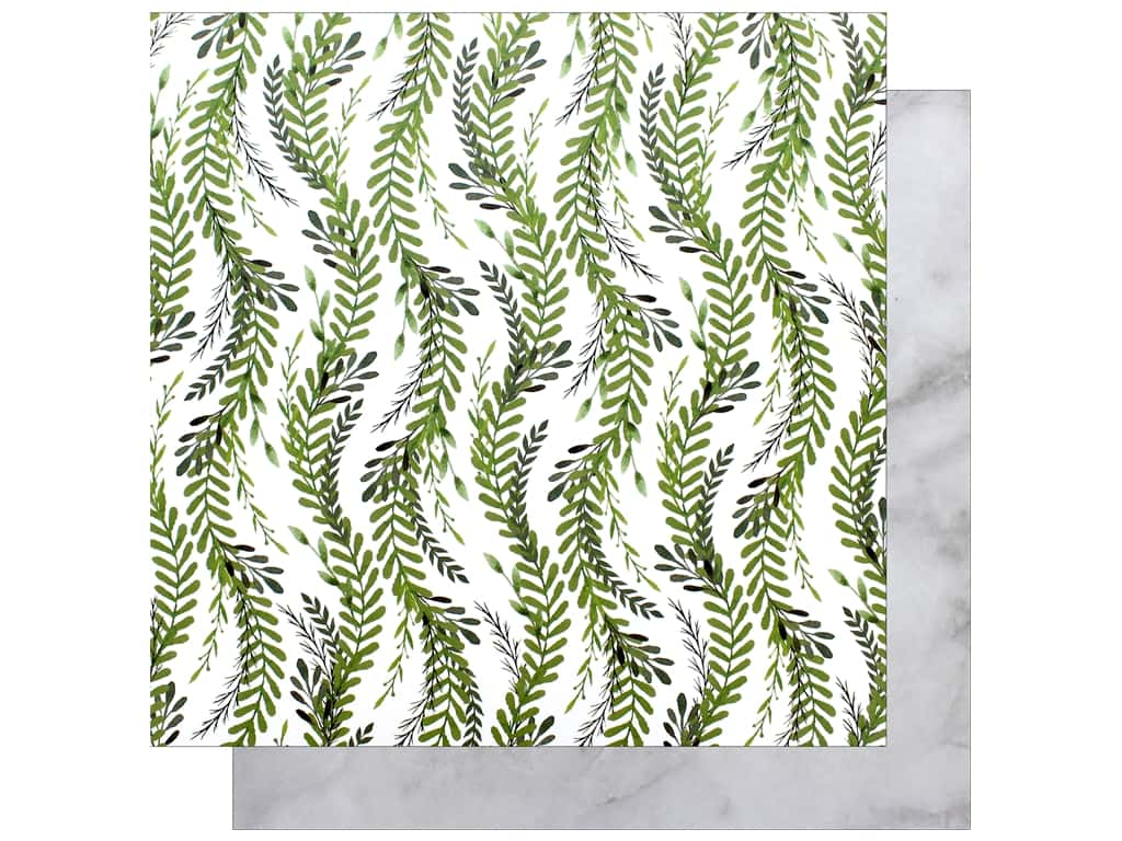 "Bo Bunny Collection Garden Party Paper 12""x 12"" Nature (25 pieces)"
