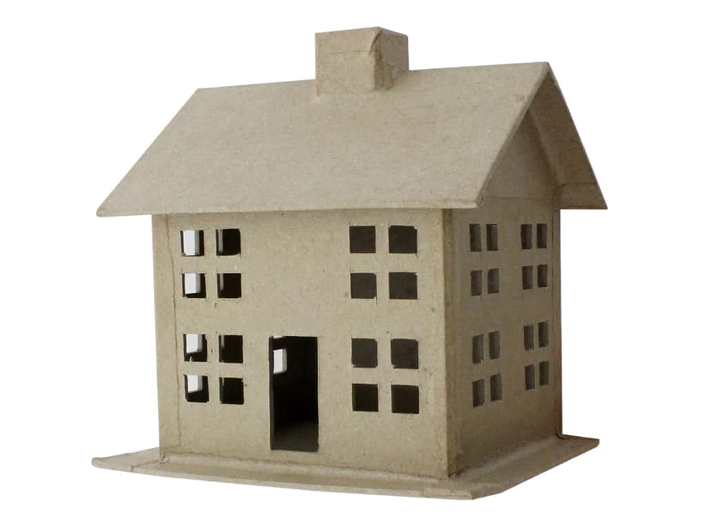 PA Paper Mache 3D House Small Style A