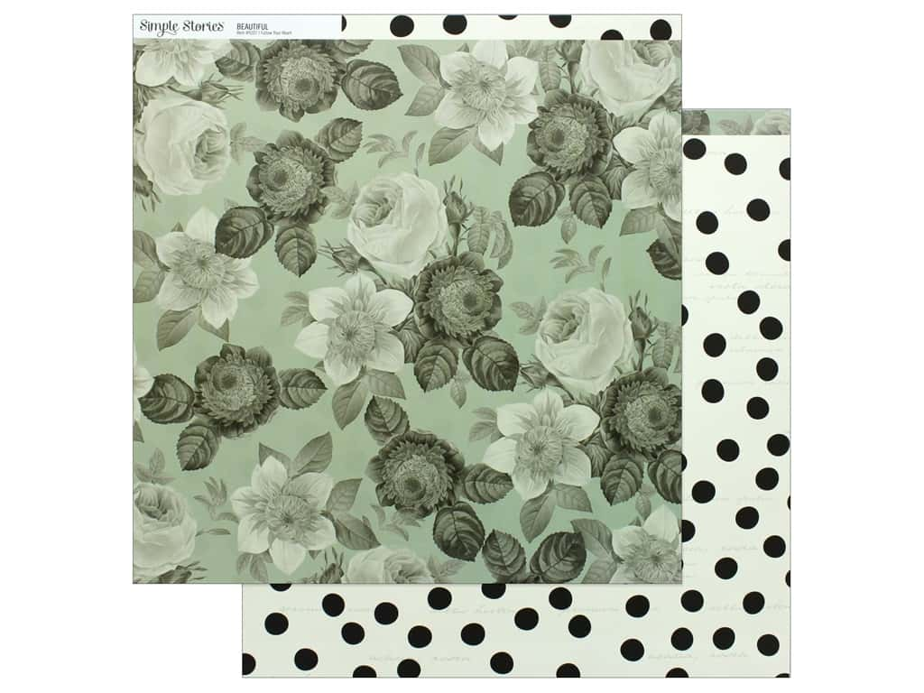 Simple Stories Collection Beautiful Paper 12 in. x 12 in.  Follow Your Heart (25 pieces)