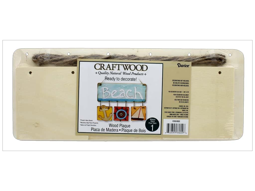 Darice Wood Plaque With Hanging Squares